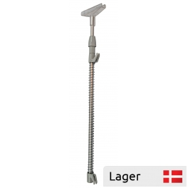 Telescopic pole with spring clip, for grid
