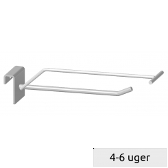 Single hook with price arm, for 10mm bar, without price holder