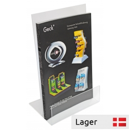 Leaflet Holder A4, clear plastic, for table / disk