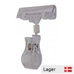 Bred informationsholder / klemme 80 mm. transparent