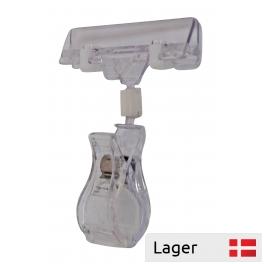 Wide information holder / clip 80 mm. Transparent