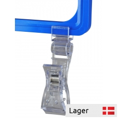 Universal clips med holder for plakatramme