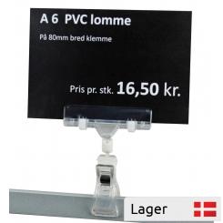 Informationsholder 80 mm, med A6 PVC lomme