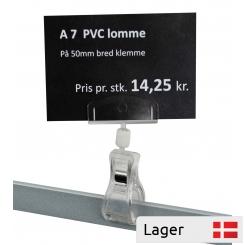 Informationsholder 50 mm, med A7 PVC lomme