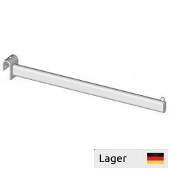 Garment arm, with 1 ball, for 30x15mm flat oval bar