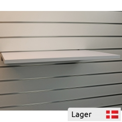 Shelf for slatted panels - white
