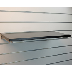Shelf for slatted panels - black
