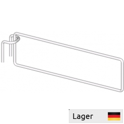 Divider arm, for perforated backbar