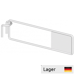 Divider arm, with plate, for perforated backbar