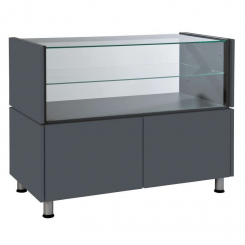 Counter / desk with glass