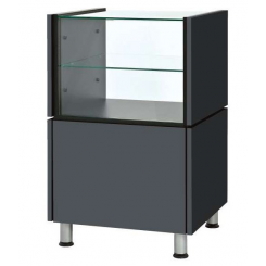 Small desk with glass