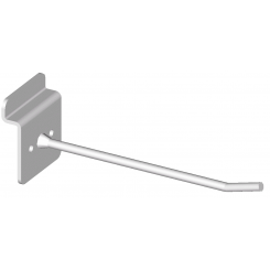 Single hook, low bracket, for slatted panels