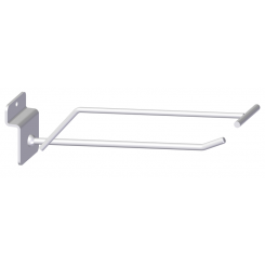Single hook, with price arm, for slatted panels