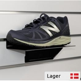 Shoe rack for slatted panels