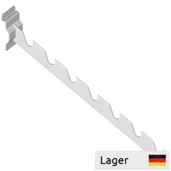 Hakarm i fladstål 30x3mm m. slidser, for lamelvæg