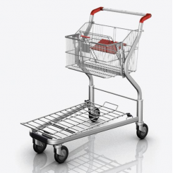Platform Trolley GM 2/2 with sliding basket