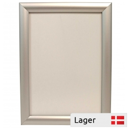 Hinged aluminium frame with in anti-reflective PVC film. 25mm profiles
