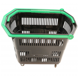 4 Wheel Shopping Basket (large) - with/without Logo