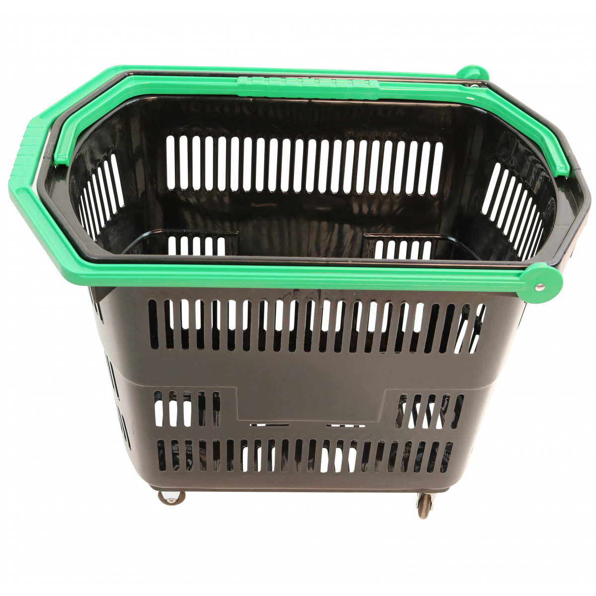 Indkøbskurve med hjul | Stor indkøbskurv i plast med hjul