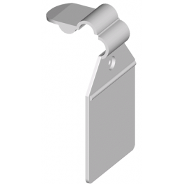 Prisfane, Plastik hvid el. sort m. låsemekanisme
