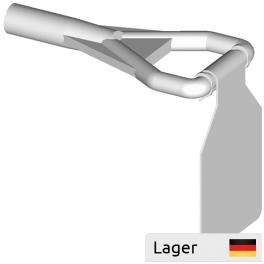 White Plast Price Flap Adaptor with Steel Price Flap