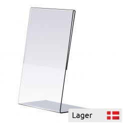 Plastic tablestand, L-shape, transparent