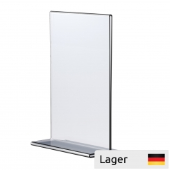 Informationsholder til bord, 2 mm akryl, glasklar