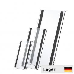Informationsholder akryl, med magnetbånd