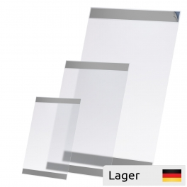PVC placard sleeve, with adhesive tape
