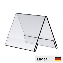 Informationsholder til bord, af 2 mm akryl, glasklar