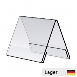 Acrylic tablestand, angled, transparent