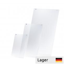 Lomme PVC til skilte/plakater med to forede ophængshuller