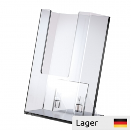 Leaflet Holder, with enclosed loose footing, for counter and wall
