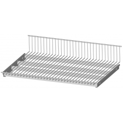Reversible wire shelf, suits on separate brackets