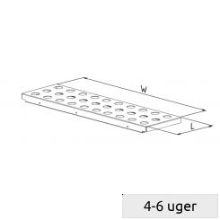 Perforeret stål pladehylde