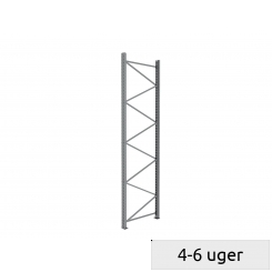 Frame for pallet rack