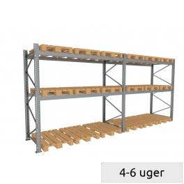 Pallet rack set 600 kg/pallet