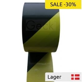 Afspærringsbånd - gul&sort stribet