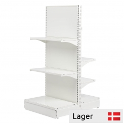T form gondola set, back panel without holes, WHITE