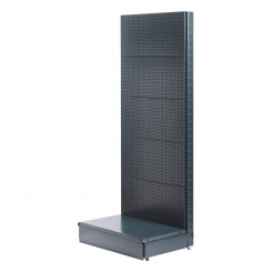 L form gondola, perforated back panel