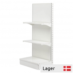 L form gondola set, back panel without holes, WHITE
