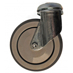Steel Forked Tente Wheel for Shopping Trolleys