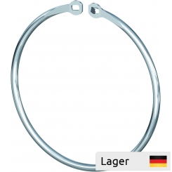 Merchandising ring with clip fastening