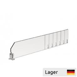 Skillerum med 2 forankringspunkter, forkortet i trin på 25mm, gennemsigtig