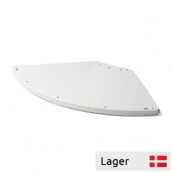 External corner shelf, round