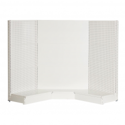 Storeshelving set, internal corner, WHITE