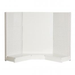 Storeshelving set, internal corner, WHITE