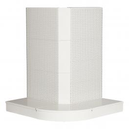 Storeshelving set, external corner, WHITE