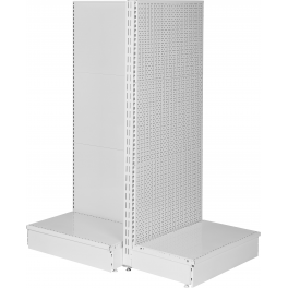 Gondola head shelving with base, WHITE