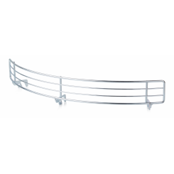 Round front grille for wire shelf deph 300